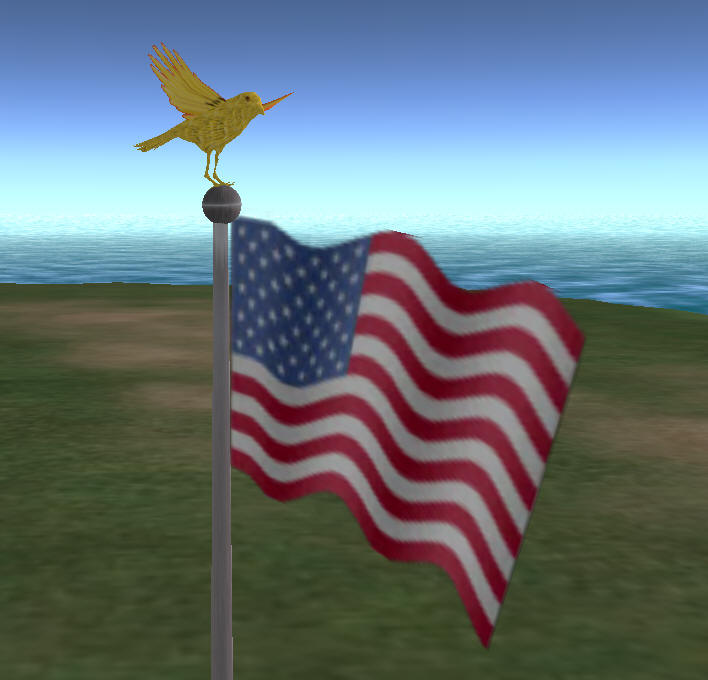 Make an animated flag for Memorial Day - Best Second Life tools