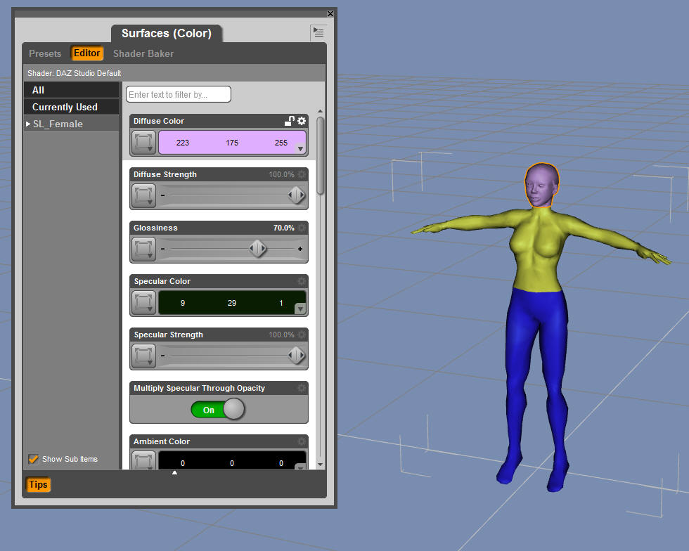 Animate a mesh avatar