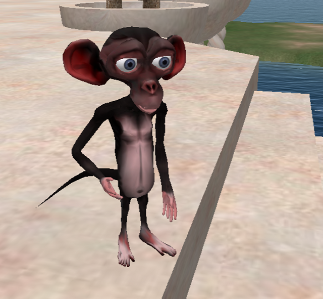 How to make Cheeter- a Free Mesh Monkey Avatar for Second Life and
