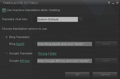 Google Translator, Second Life, Free Translator